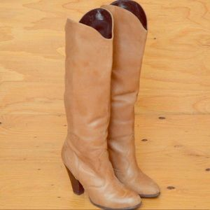 👢DOLCE VITA👢70s Style Heeled Leather Boots (7.5)